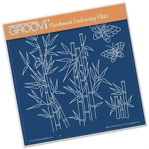 Bamboo <br/> A5 Square Groovi Plate <br/> (Set GRO-OB-40314-03)