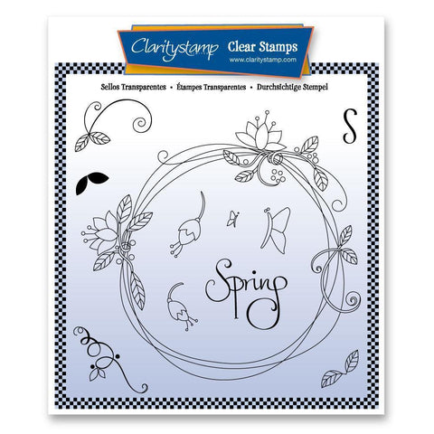 Entwined Spring Circle Wreath <br/>Unmounted Clear Stamp Set