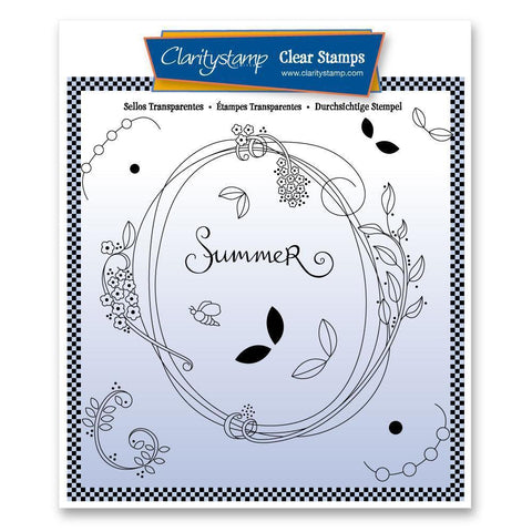 Entwined Summer Oval Wreath <br/>Unmounted Clear Stamp Set