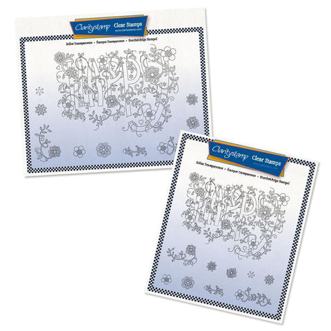 Barbara's SHAC Happy Doodle Stamp Sets (Pair)