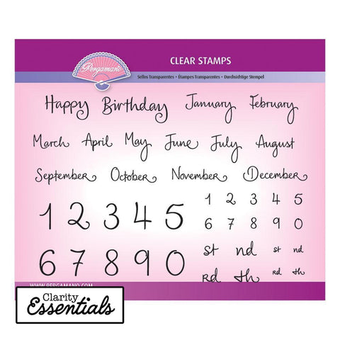 Barbara's Months & Numbers Stamp Set