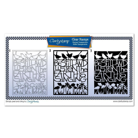Be Still & Listen Three Way Overlay Unmounted Clear Stamp Set