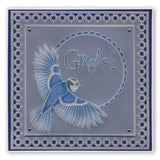 Beauty & Hope Word Chains <br/>Groovi Border Plate <br/>(Set GRO-WO-40576-XX)