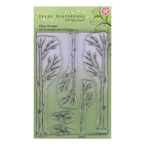 Birch Trees <br/>Unmounted Clear Stamp Set