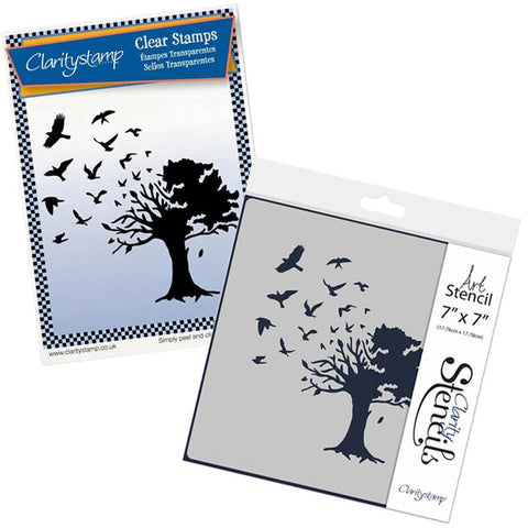 Bird Tree Stamp & Stencil Set