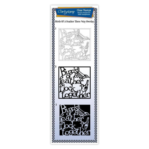 Birds of a Feather - Three Way Overlay <br/>Unmounted Clear Stamp Set