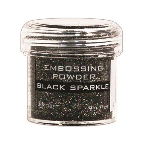 Embossing Powder - Black Sparkle