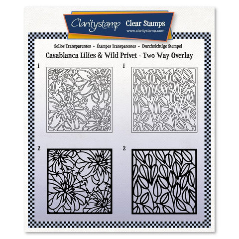 Botanical Casablanca Lilies & Wild Privet Two-Way Overlay Stamp Set