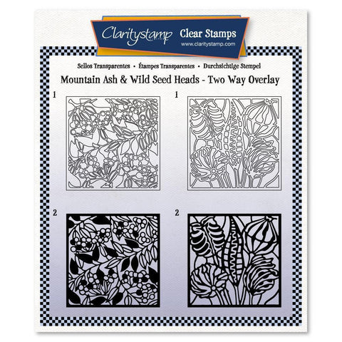Botanical Mountain Ash & Wild Seed Heads Two-Way Overlay Stamp Set