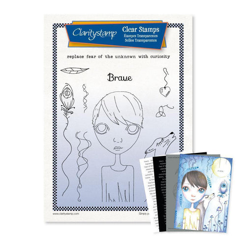 Large Dee's Friends - Brave <br/>Unmounted Clear Stamp Set <br/>+ MASK & 2x Phrase Sheets