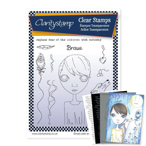 Dee's Friends - Brave Unmounted Clear Stamp Set + MASK & 2x Phrase Sheets