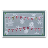 Bunting & Baubles Groovi Border Plate Set
