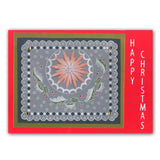 Bunting + Alphabet & Christmas Baubles Groovi® Border Plates A4 (Set of 2)