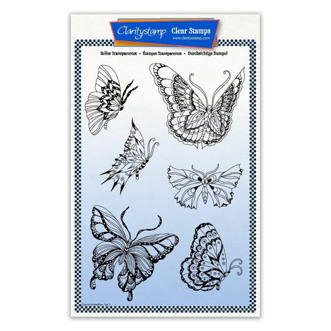 Cherry's Butterflies & Moths Unmounted Stamp & Masks - Set 2