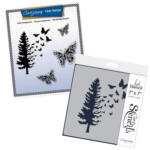 Butterfly Tree Stamp & Stencil Set