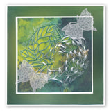 Leafy Butterfly Round A5 Square Groovi Plate (Set GRO-AN-40834-03)