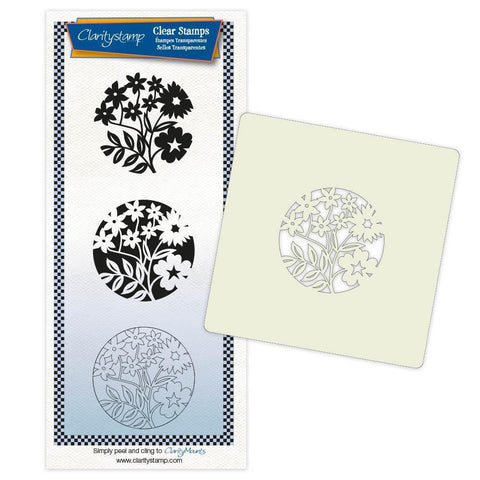 Periwinkle & Friends + Stencil & MASK Unmounted Clear Stamp Set