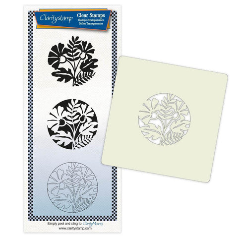 Marigold & Friends + Stencil & MASK Unmounted Clear Stamp Set