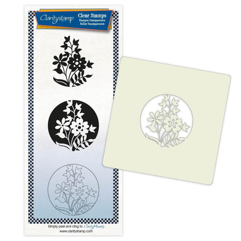 Daisy & Friends + Stencil & MASK Unmounted Clear Stamp Set