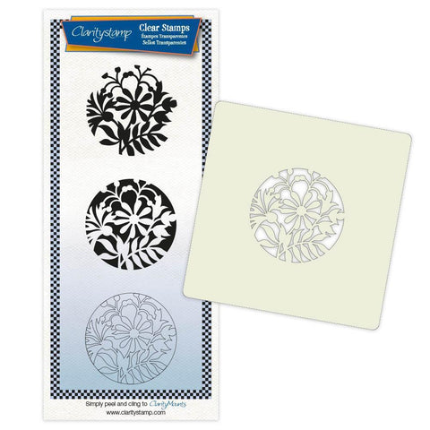 Cornflower & Friends + Stencil & MASK Unmounted Clear Stamp Set