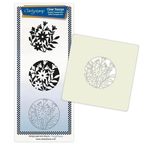 Camomile & Friends + Stencil & MASK Unmounted Clear Stamp Set