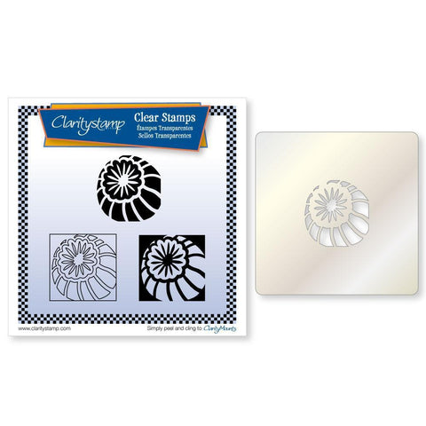Poppy Seed Head Three Way Overlay + STENCIL <br/>Unmounted Clear Stamp Set