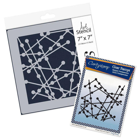 Particle <br/>Stamp Set & Stencil Bundle