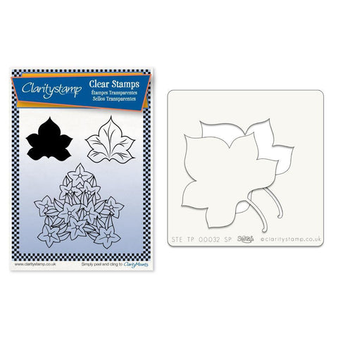 Maple Leaves 2 + Stencil <br/>Unmounted Clear Stamp Set