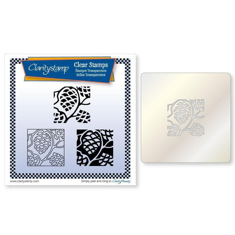 Pine Cones Three Way Overlay + STENCIL Unmounted Clear Stamp Set