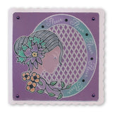 Fleur Cameo <br/>A6 Square Groovi Baby Plate <br/>(Set GRO-PE-40329-01)