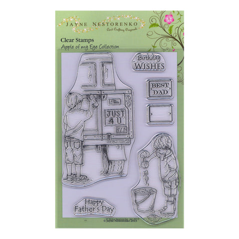 Car Wash Boys Unmounted Clear Stamp Set