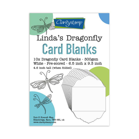 Linda's Dragonfly Card Blanks Pack of 10