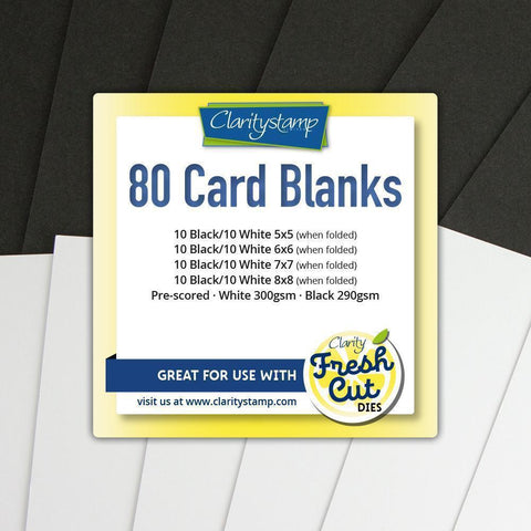Card Blanks Bundle Black & White, All Sizes x10 of Each