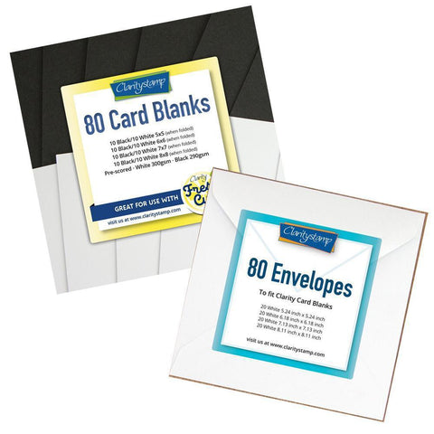 Black & White Card Blanks & Envelopes Bundle