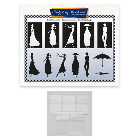 Barbara's Clarity Characters Silhouettes A5 Stamp Set & Mounts