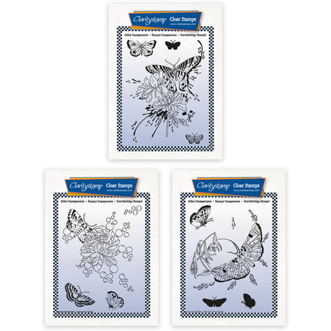 Cherry's Butterfly Complete Montage A6 Stamp & Mask Collection