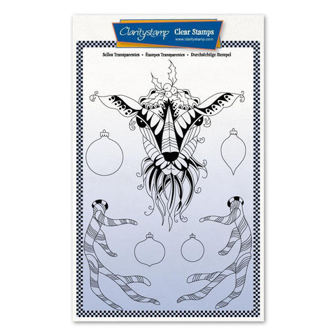 Cherry's Mythical Deer + MASK <br/>Unmounted Clear Stamp Set