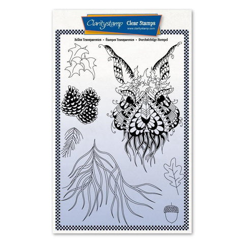 Cherry's Mythical Hare + MASK <br/>Unmounted Clear Stamp Set