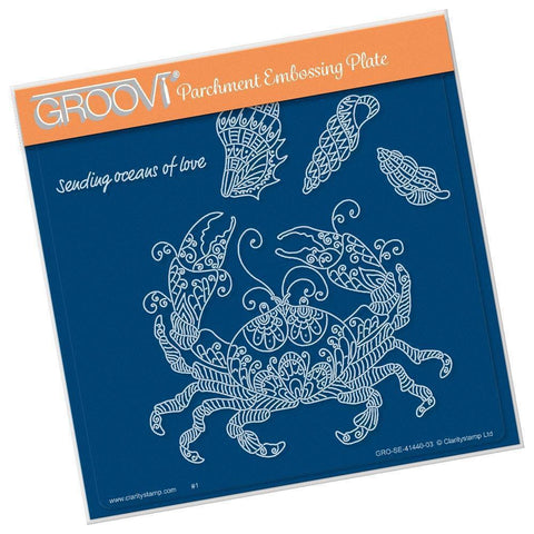 Cherry's Under the Sea - Crab <br/>A5 Square Groovi Plate