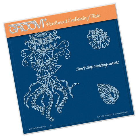 Cherry's Under the Sea - Jellyfish <br/>A5 Square Groovi Plate
