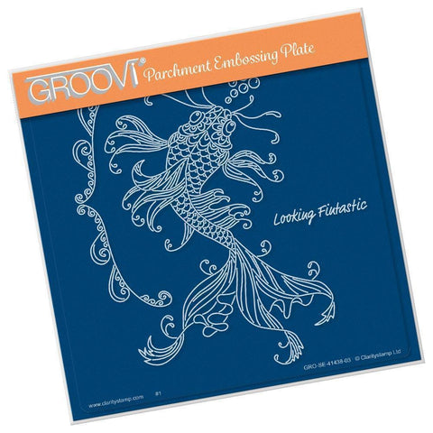 Cherry's Under the Sea - Koi Carp <br/>A5 Square Groovi Plate