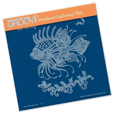 Cherry's Under the Sea - Lion Fish <br/>A5 Square Groovi Plate