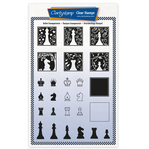 Chess Pieces A5 Unmounted Stamp Set