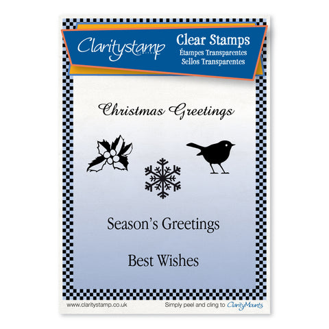 Christmas Greetings <br/>Unmounted Clear Stamp Set
