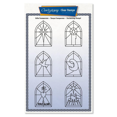 Christmas Window A5 Unmounted Stamp Set