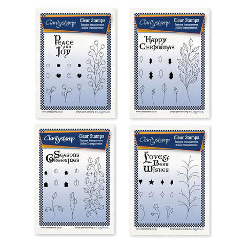 Christmas Branches Collection <br/>Unmounted Clear Stamp Set