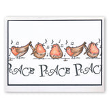Christmas Carol 2 - Reindeer & Robins Unmounted Clear Stamp Set