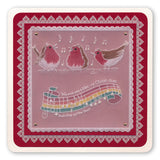 We Wish You a Merry Christmas<br>A5 Square Groovi Plate <br/>(Set GRO-CH-40798-03)