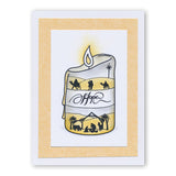 Candle Outline + MASK Unmounted Clear Stamp Set