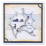 Holly Leaf Outline + MASK <br/>Unmounted Clear Stamp Set